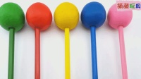 彩泥棒棒糖魔力72变, 早教启蒙认知萌宝一起识颜色与数字1-5啦!