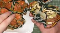 手把手教你吃螃蟹, 按照这步骤, 一点蟹黄蟹肉都不会浪费