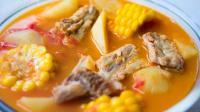 家常版排骨番茄靓汤, 养生营养又开胃!