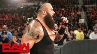 【RAW 10/22】人间怪兽表示为了罗门他要保住这个冠军 不会让大布拿走