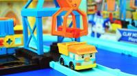 韩国珀利玩具 小货车邓普的黏土运输套装
