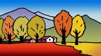 秋天的景色窦老师教画画