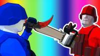 小飞象解说✘战地模拟器 搞笑全新玩法! 飞刀大战电锯狂人!