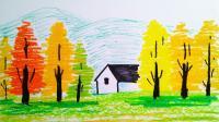 彩色的的森林窦老师教画画