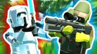 小飞象解说✘战地模拟器 绝地求生机甲大战! 酷炫激光枪模组!