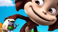 越看越搞笑! 大猴子带灰灰来看什么玩具车? 汪汪队故事