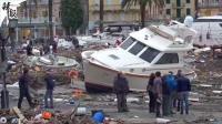 意大利持续暴雨 城市七成以上被淹