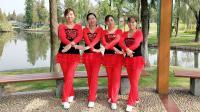 阿琴姐妹花广场舞《快乐老家》编舞幽谷百合 动感时尚32步健身舞