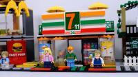 用积木搭建你身边的便利店: 森宝积木城市街景系列711便利店评测