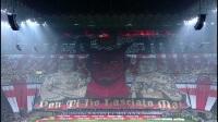 圣西罗南看台巨幅tifo场面震撼 红色小恶魔撕碎斑马军团