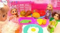 亮亮玩具厨房烹饪和微波炉玩具试玩, 婴幼儿宝宝游戏玩具视频, 第H100集