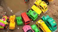 汽车挖掘机和超级飞侠玩具试玩, 婴幼儿宝宝玩具游戏视频B918