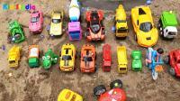 发现汽车搅拌车和工程车玩具, 婴幼儿宝宝游戏玩具视频H578