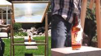 世界上最强的放大镜, 聚集600度高温, 瞬间熔化玻璃瓶!