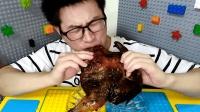 今晚吃鸡, 吃货小哥吃黑旋风烤鸡, 黑胡椒口味超赞, 吃得真馋人