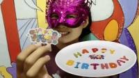 """妹子试吃""""生日快乐糯米纸"""", 生日送上这幅图, 好看还能吃"""