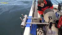 国外人海上捕鱼, 这神奇的捕鱼机器真给力, 一天能收获500百斤么