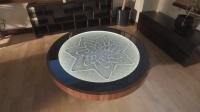 自动画沙画的桌子, 图案一直不断变化, 看久了会被催眠!