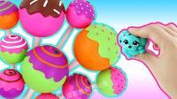 彩虹水晶糖魔力变身棒棒糖? 早教色彩认知教程培养宝宝创意思维