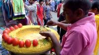 中国人在印度, 实拍印度街边的小吃摊, 生意很好! 无法相信!