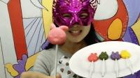 妹子试吃可妮兔棒棒糖布丁, 小巧可爱的圆润造型好玩又好吃