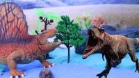 恐龙为了保护家园奋力抵抗入侵者