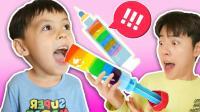 手工DIY用真的水果制作美味的水果冰淇淋吧! 马树奇趣秀!