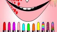 11种不同颜色的口红涂在嘴上, 你觉得哪个最好看?
