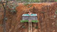 原始技术, 小伙山坡上建游泳池, 小伙子太猖狂了