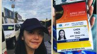 八卦:姚晨成首位APEC青年大使晒素颜自拍心情佳