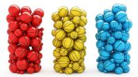彩色小球组合拼装杯子造型