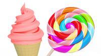 数一数彩色冰淇淋的个数