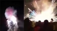 缅甸热气球升空后火球掉落观众席 致2人被烧伤