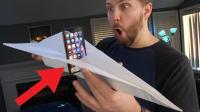 老外测试多大的纸飞机能载动iPhone XS起飞, 网友: 闲的还挺有情调!