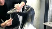 剪长发如何把发尾修的更自然, 碎发V字修剪, 供美发师参考
