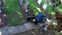 男子频频墓地偷花 死者家属装监控拍着