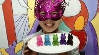 """妹子试吃""""小猪佩奇巧克力"""", 5款不同颜色口味, 你喜欢吗?"""
