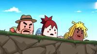 搞笑吃鸡动画: 瓦特驾驶的2轮神车, 直接压死2个人, 队友看懵圈了