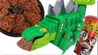 恐龙卡车Dinotrux大型剑龙玩具拆箱