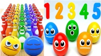 儿童玩具学英语怪兽小球来玩保龄球游戏惊喜彩蛋学数字儿童英语