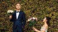 八卦:包贝尔携手妻子拍浪漫婚纱照 包文婧捧花单膝跪地