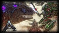 【矿蛙】方舟生存进化 灭绝#10 高达VS南巨! 最强生物决斗谁会赢?