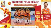 2017.09.28 QF 意大利 0-3 荷兰 - 2017女排欧锦赛