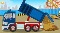 儿童认识交通工具 救护车 警车 消防车亲子游戏