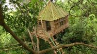 原始技能 生存哥 在 森林 建造 树屋