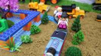 用积木建一个火车站
