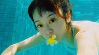 """孕妈陈意涵素颜游泳,水下""""豪饮""""俏皮可爱"""