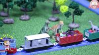 托马斯来到玩具恐龙公园帮恐龙妈妈找宝宝