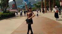 好心情蓝蓝广场舞原创【109】健身舞【想着你的好正背面】附教学