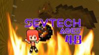 烈焰蝙蝠毁我战甲——甜萝酱我的世界Minecraft《SEVTECH AGES》赛文科技模组生存#48